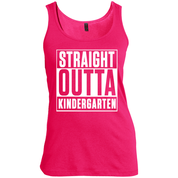 Straight Outta Kindergarten   Scoop Neck Tank Top - TeachersLoungeShop - 4