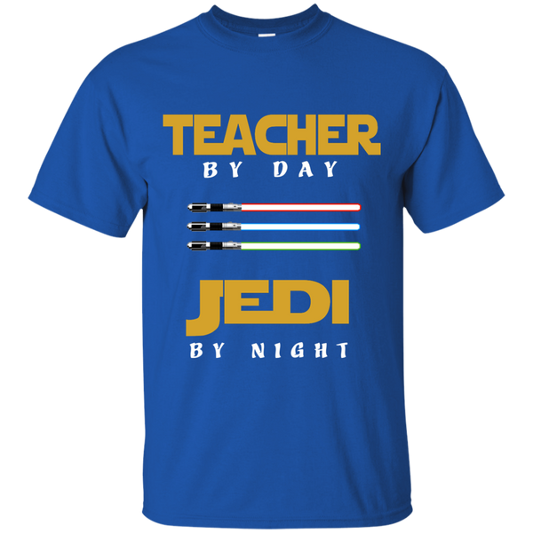 Teacher by Day Jedi by Night Cotton T-Shirt - TeachersLoungeShop - 9