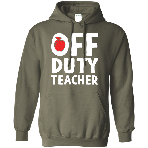 Off Duty Teacher Hoodie 8 oz - TeachersLoungeShop - 9