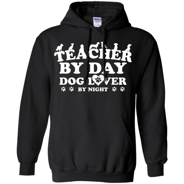 Teacher By Day Dog Lover by Night  Hoodie 8 oz - TeachersLoungeShop - 1