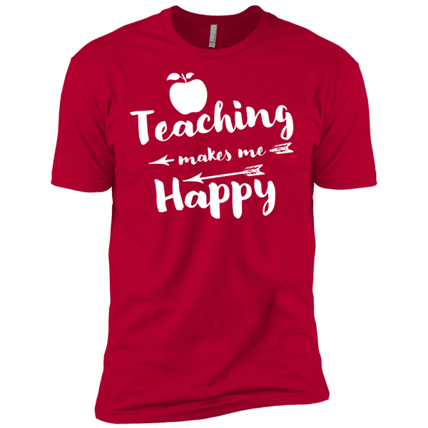 Teaching makes me Happy    Level Premium Short Sleeve Tee - TeachersLoungeShop - 9