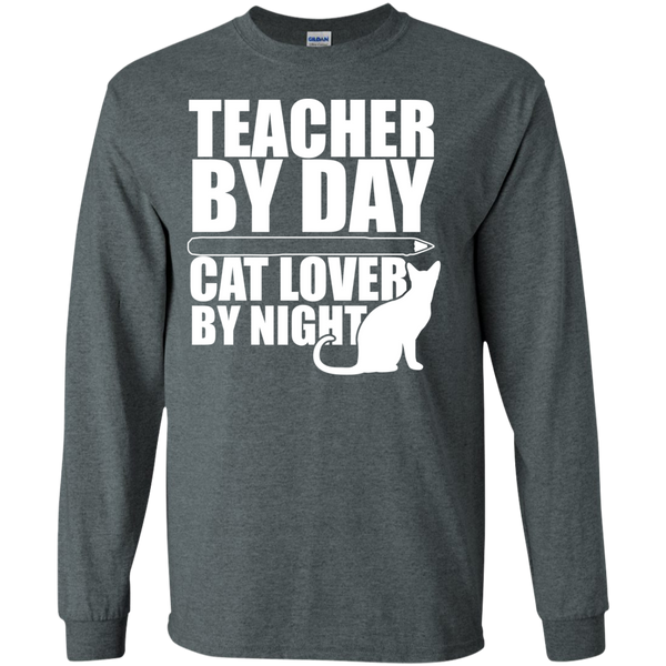 Teacher by Day Cat Lover by Night Ultra Cotton Tshirt - TeachersLoungeShop - 6