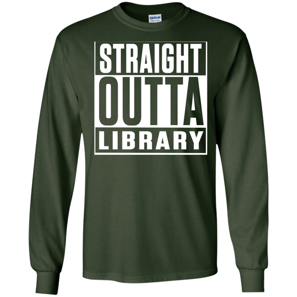 Straight Outta Library  LS Ultra Cotton Tshirt - TeachersLoungeShop - 5
