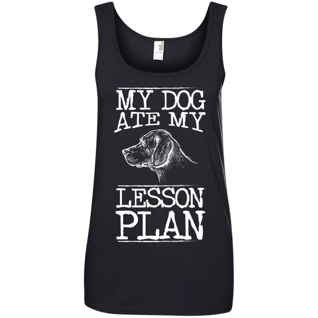 My Dog Ate my Lesson Plan  Ladies  100% Ringspun Cotton Tank Top - TeachersLoungeShop - 1