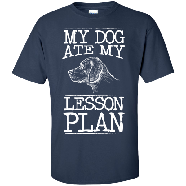 My Dog Ate my Lesson Plan  Cotton T-Shirt - TeachersLoungeShop - 4