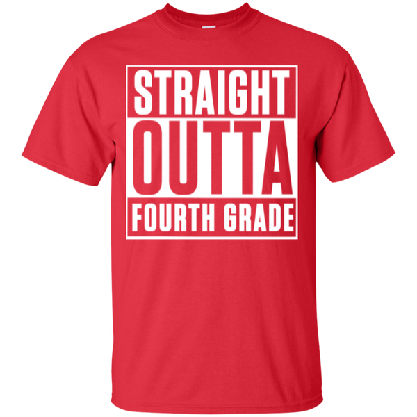 Straight Outta Fourth  Grade   T-Shirt - TeachersLoungeShop - 5