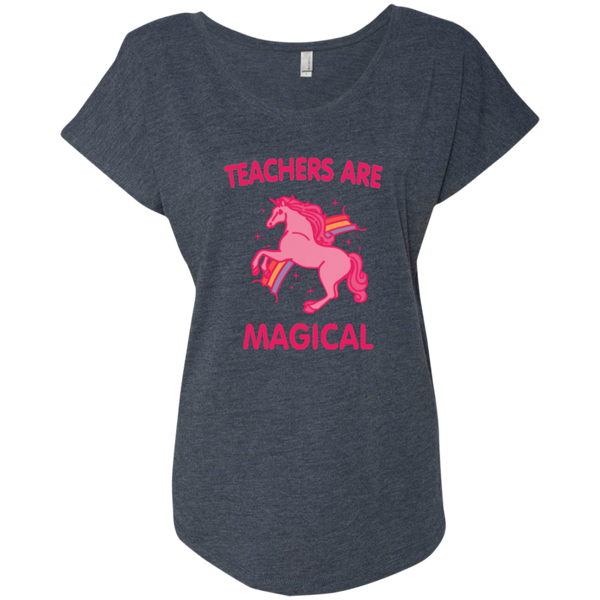 Teachers are Magical Next Level Ladies Triblend Dolman Sleeve - TeachersLoungeShop - 6