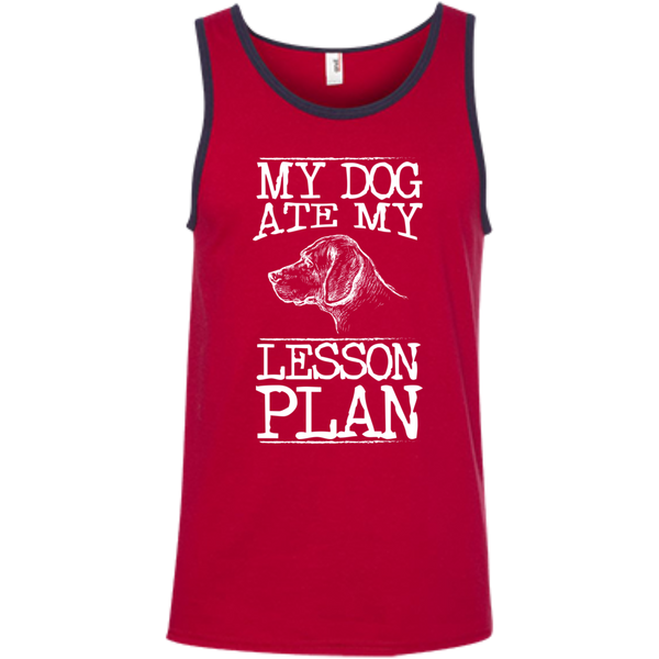 My Dog Ate my Lesson Plan  100% Ringspun Cotton Tank Top - TeachersLoungeShop - 4