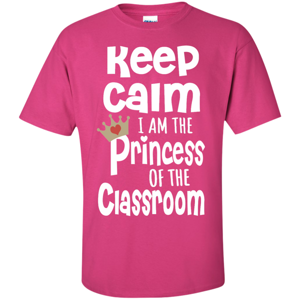 Keep Calm I am the Princess of the Classroom Cotton T-Shirt - TeachersLoungeShop - 7