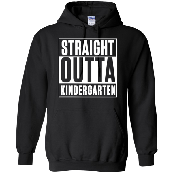 Straight Outta Kindergarten Hoodie 8 oz - TeachersLoungeShop - 3