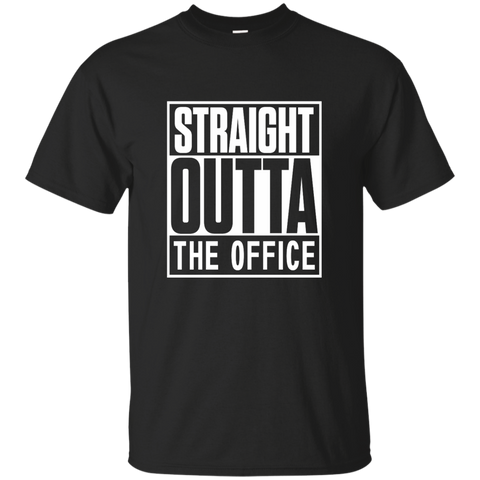 Straight Outta The Office Cotton T-Shirt - TeachersLoungeShop - 1