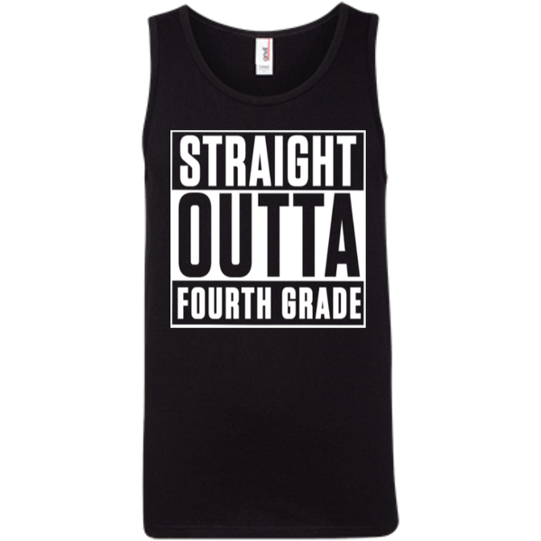Straight Outta Fourth Grade   Ringspun Cotton Tank Top - TeachersLoungeShop - 2