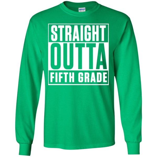 Straight Outta Fifth Grade LS  Cotton Tshirt - TeachersLoungeShop - 11