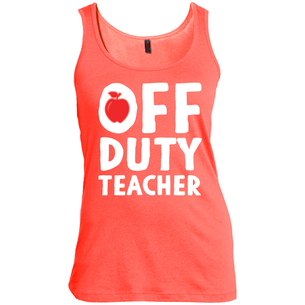 Off Duty Teacher Women's  Scoop Neck Tank Top - TeachersLoungeShop - 3