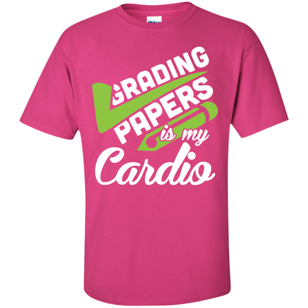 Grading papers is my cardio Cotton T-Shirt - TeachersLoungeShop - 11