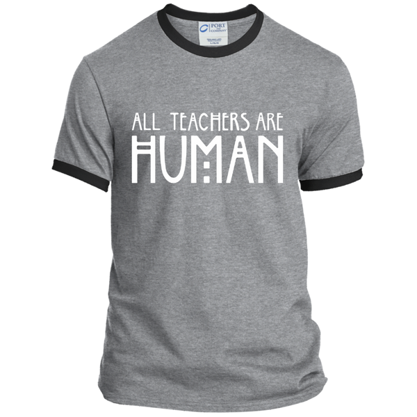 All Teachers Are Human Ringer Tee - TeachersLoungeShop - 2