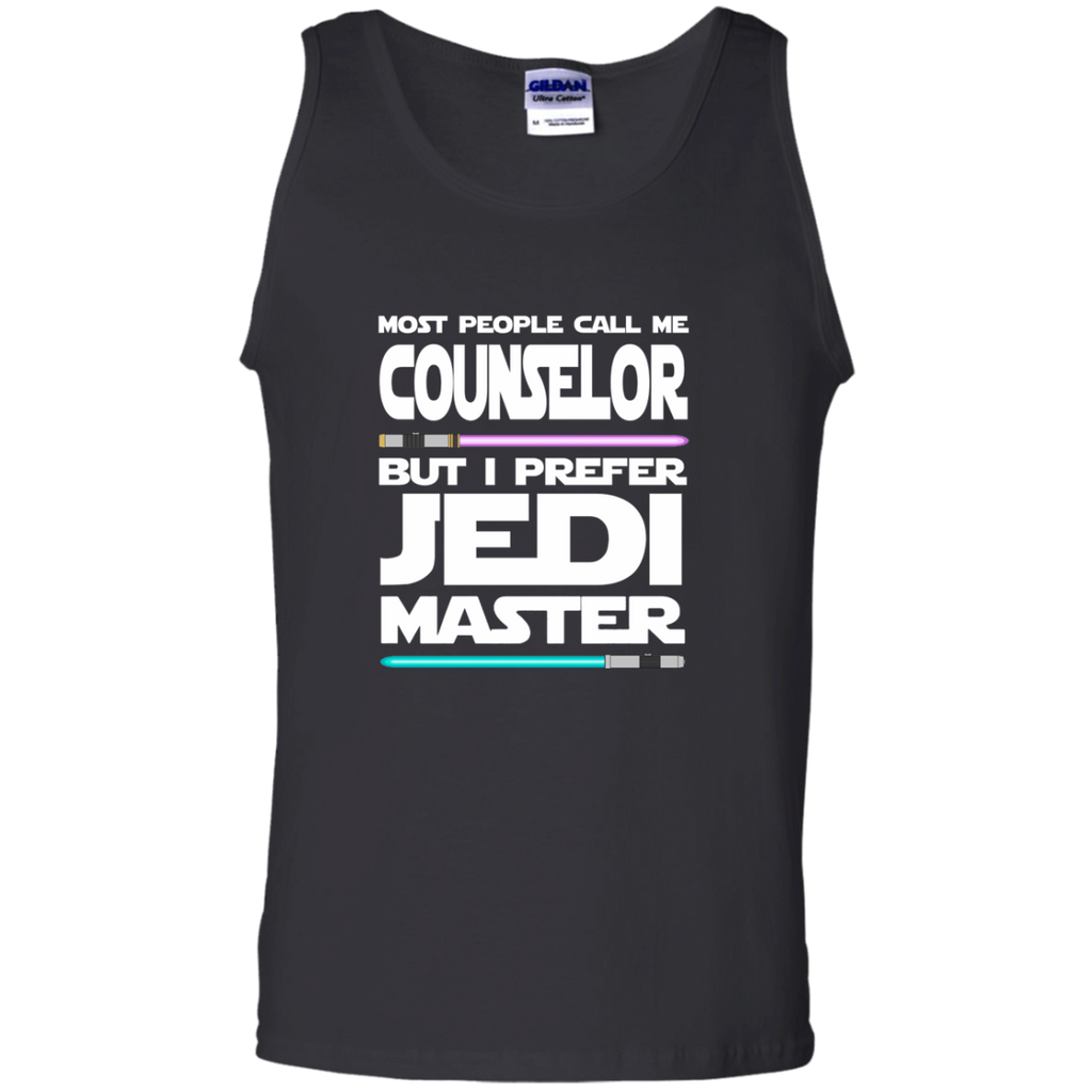 Most People Call Me Counselor But I Prefer Jedi Master 100% Cotton Tank Top - TeachersLoungeShop - 1