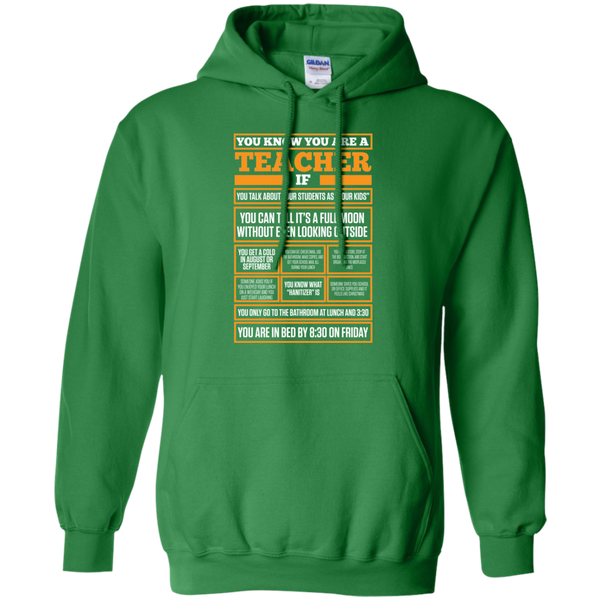 You know You are a Teacher if  Hoodie 8 oz - TeachersLoungeShop - 5