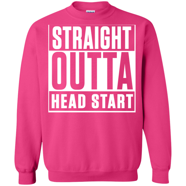 Straight Outta Head Start  Crewneck Pullover Sweatshirt  8 oz - TeachersLoungeShop - 11