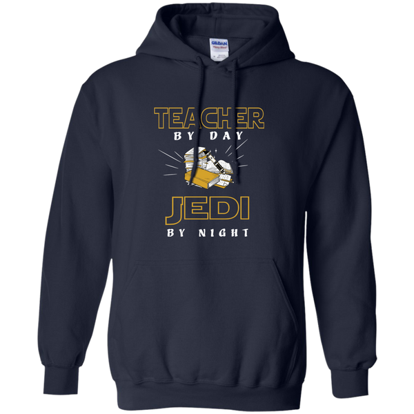 Teacher By Day Jedi By Night Ver2 Pullover Hoodie 8 oz - TeachersLoungeShop - 2