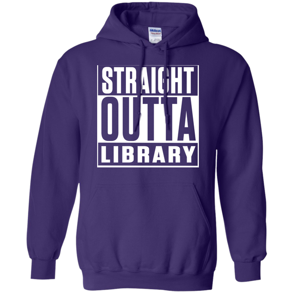 Straight Outta Library  Hoodie 8 oz - TeachersLoungeShop - 9