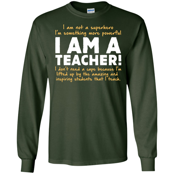 I am not a superhero I'm something more powerful I am a Teacher   Ultra Cotton Tshirt - TeachersLoungeShop - 2