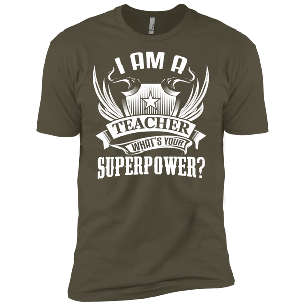 I am a Teacher what's your Superpower Next  Level Premium Short Sleeve Tee - TeachersLoungeShop - 9