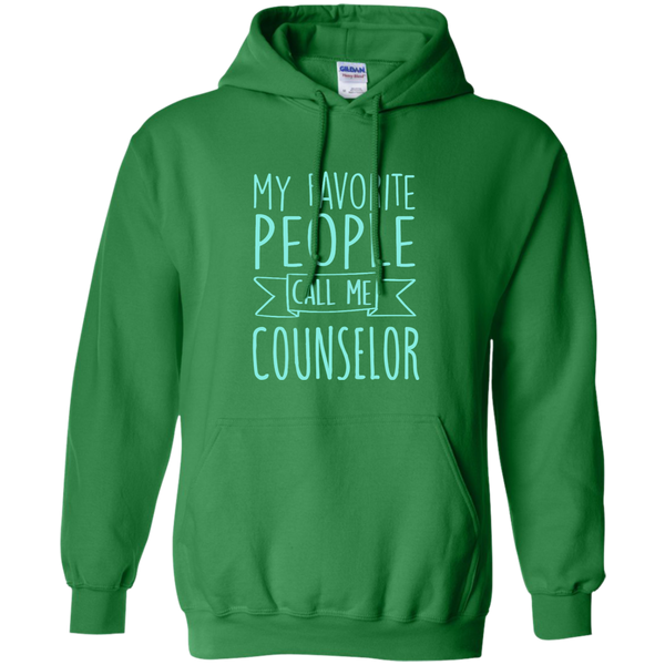 My Favorite People call Me Counselor Pullover Hoodie 8 oz - TeachersLoungeShop - 8