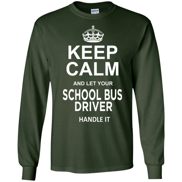 Keep Calm and let your School Bus Driver handle it LS Ultra Cotton Tshirt - TeachersLoungeShop - 3