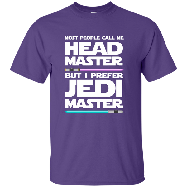 Most People Call Me Head Master But I Prefer Jedi Master Cotton T-Shirt - TeachersLoungeShop - 11