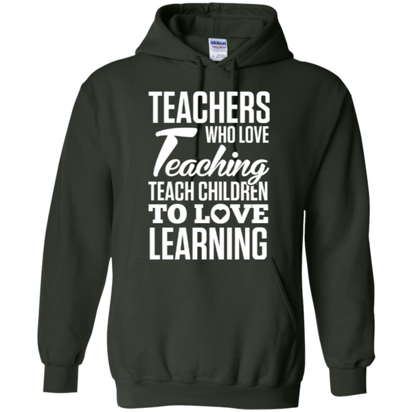 Teachers who love teaching  Hoodie 8 oz - TeachersLoungeShop - 3