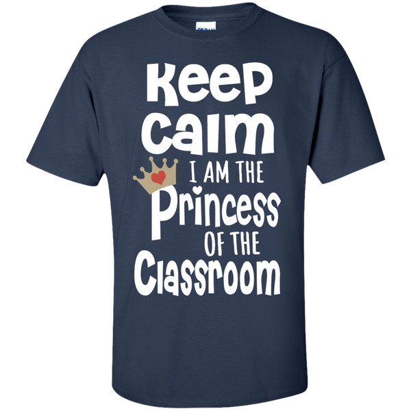Keep Calm I am the Princess of the Classroom Cotton T-Shirt - TeachersLoungeShop - 10