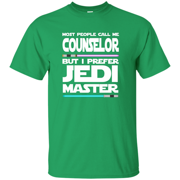 Most People Call Me Counselor But I Prefer Jedi Master Cotton T-Shirt - TeachersLoungeShop - 3