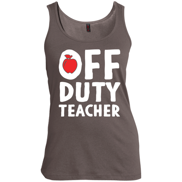 Off Duty Teacher Women's  Scoop Neck Tank Top - TeachersLoungeShop - 1