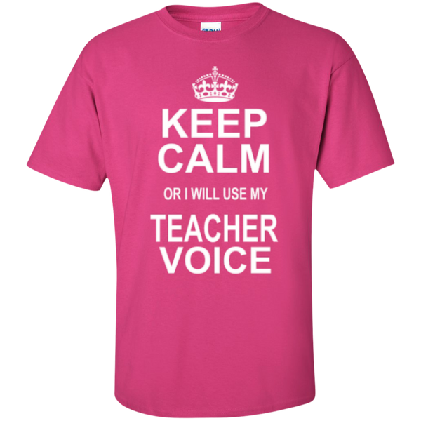 Keep Calm or i will use my Teacher Voice T-shirt Hoodie - TeachersLoungeShop - 4
