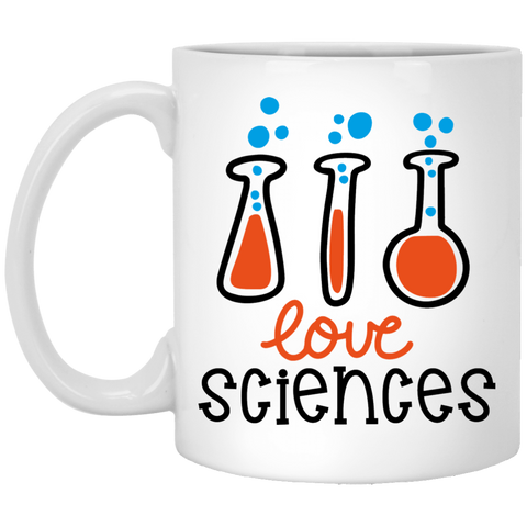 Love Sciences  11 oz. White Mug