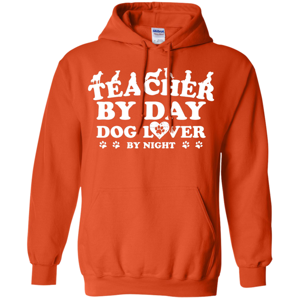Teacher By Day Dog Lover by Night  Hoodie 8 oz - TeachersLoungeShop - 9