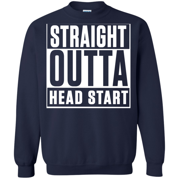 Straight Outta Head Start  Crewneck Pullover Sweatshirt  8 oz - TeachersLoungeShop - 3