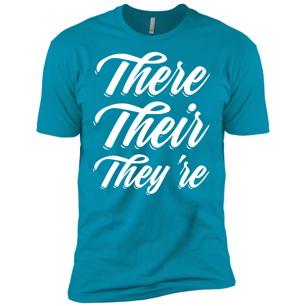 They Their They're  Next Level Premium Short Sleeve Tee - TeachersLoungeShop - 12