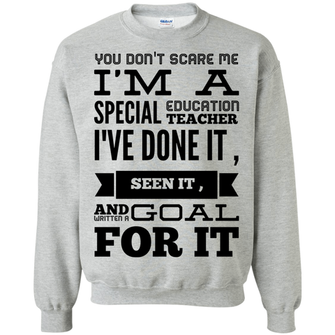 You don't scare me I'm A Special Education Teacher I've done it , seen it , and written a goal for it  Sweatshirt