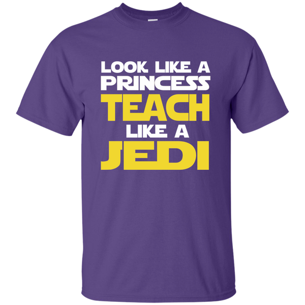 Look Like a Princess Teach Like a Jedi Cotton T-Shirt - TeachersLoungeShop - 11