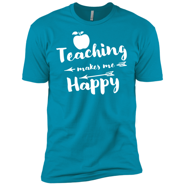 Teaching makes me Happy    Level Premium Short Sleeve Tee - TeachersLoungeShop - 12
