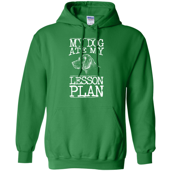 My Dog Ate my Lesson Plan  Hoodie 8 oz - TeachersLoungeShop - 8