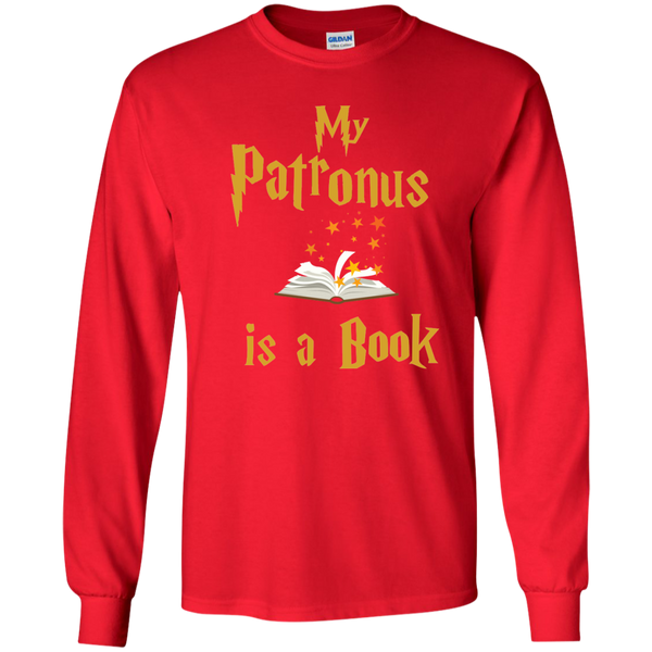 My Patronus is a Book LS Ultra Cotton Tshirt - TeachersLoungeShop - 8