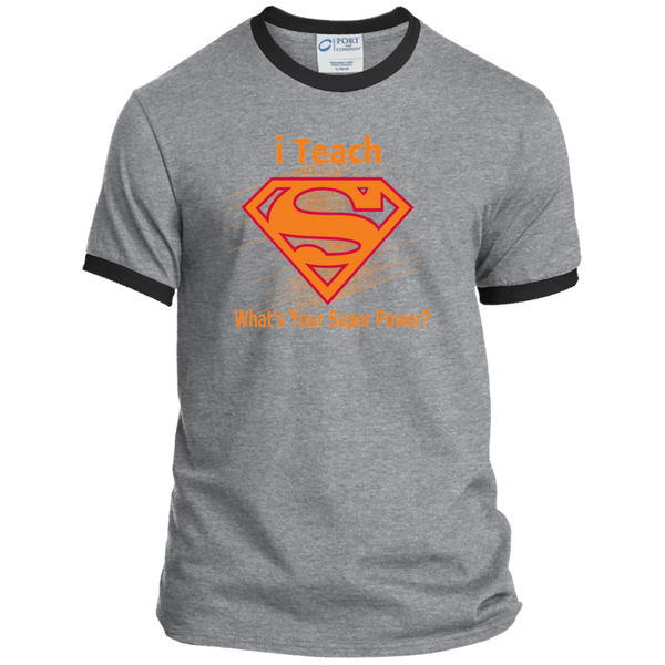 i Teach What's Your Superpower Ringer Tee - TeachersLoungeShop - 2