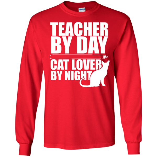Teacher by Day Cat Lover by Night Ultra Cotton Tshirt - TeachersLoungeShop - 8