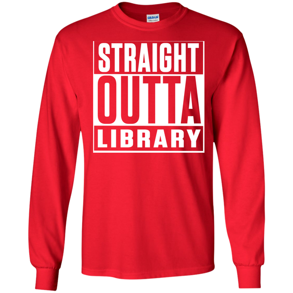 Straight Outta Library  LS Ultra Cotton Tshirt - TeachersLoungeShop - 7