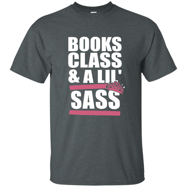 Books Class and A Little Sass Cotton T-Shirt - TeachersLoungeShop - 8