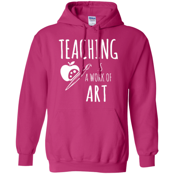 Teaching is a Work of Art Teacher T-shirt Hoodie - TeachersLoungeShop - 9