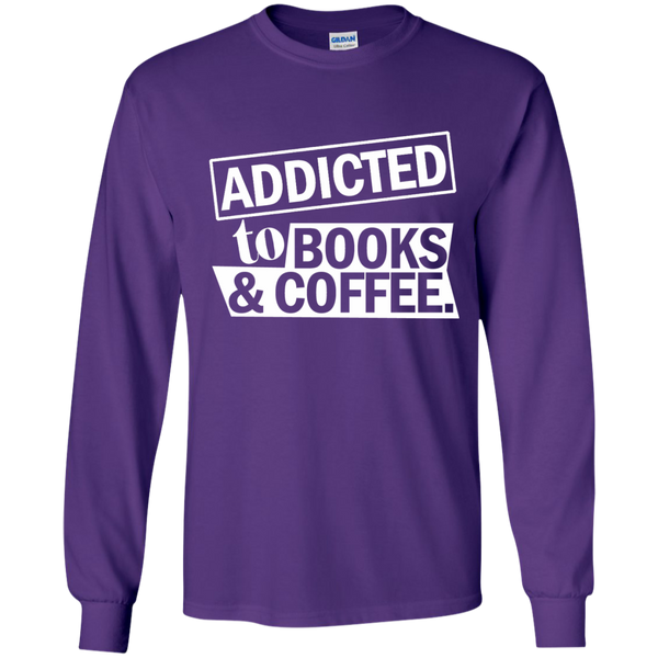 Addicted to Books and Coffee LS Ultra Cotton Tshirt - TeachersLoungeShop - 12
